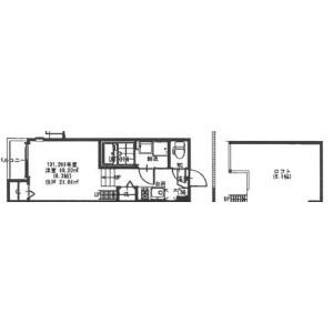 1K Mansion in Hozancho - Toyonaka-shi Floorplan