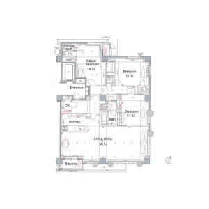 3LDK {building type} in Shirokanedai - Minato-ku Floorplan