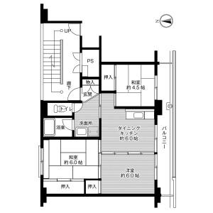 3DK Mansion in Uedamachi - Iwaki-shi Floorplan