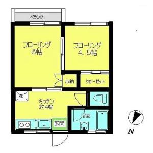 2K Mansion in Hommachi - Shibuya-ku Floorplan
