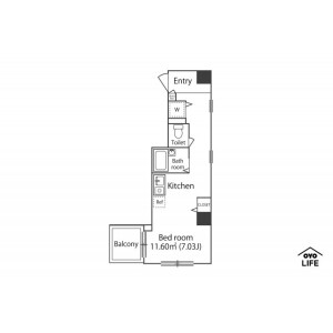 1R Mansion in Kandasudacho - Chiyoda-ku Floorplan