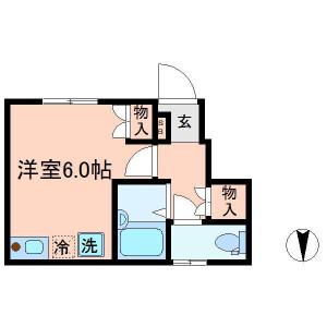 練馬区 富士見台 1R アパート 間取り