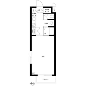 1K Mansion in Kamitakaido - Suginami-ku Floorplan