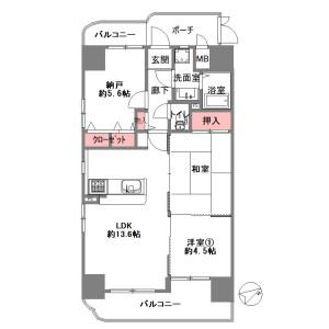 2SDK {building type} in Sangenyahigashi - Osaka-shi Taisho-ku Floorplan