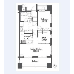 1SLDK Mansion in Mita - Minato-ku Floorplan