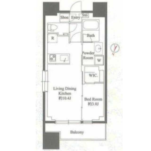 1LDK Mansion in Matsubara - Setagaya-ku Floorplan