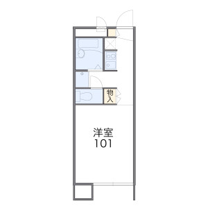 1K Apartment in Terao - Kawagoe-shi Floorplan