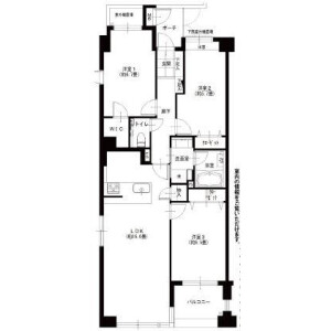 3LDK Apartment in Arai - Nakano-ku Floorplan