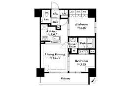 2LDK Apartment in Higashiazabu - Minato-ku