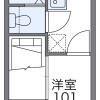 1K Apartment to Rent in Kyoto-shi Kamigyo-ku Floorplan