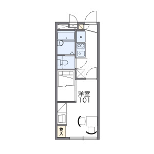 1K Apartment in Idacho - Kyoto-shi Kamigyo-ku Floorplan