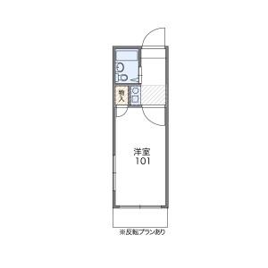 新宿區戸山(3丁目18・21番)-1K公寓 房間格局