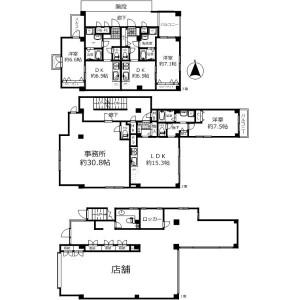 Whole Building {building type} in Minamiguchi - Takarazuka-shi Floorplan