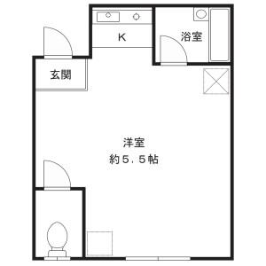 1R Mansion in Kamisakunobe - Kawasaki-shi Takatsu-ku Floorplan