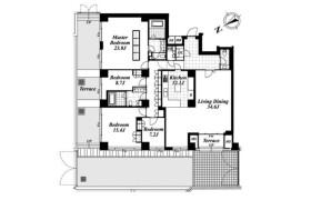 4LDK Apartment in Yoyogikamizonocho - Shibuya-ku