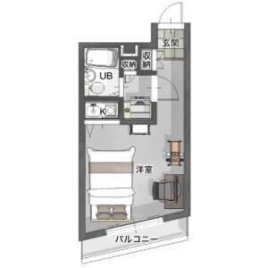 1R Mansion in Koyasudori - Yokohama-shi Kanagawa-ku Floorplan