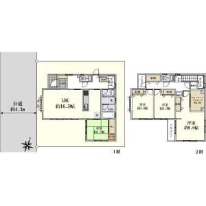 世田谷区深沢-4LDK{building type} 楼层布局