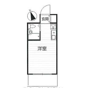横浜市港北区大豆戸町-1R公寓大厦 楼层布局