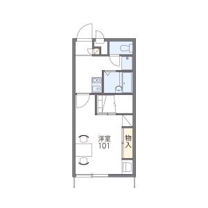 1K Apartment in Ogimachi - Nagasaki-shi Floorplan