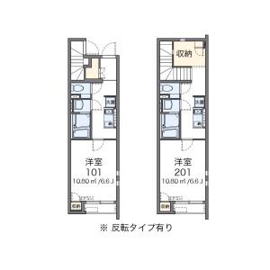 1K Apartment in Higashihorikiri - Katsushika-ku Floorplan