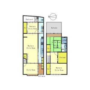 5SK House in Sujaku bunkicho - Kyoto-shi Shimogyo-ku Floorplan