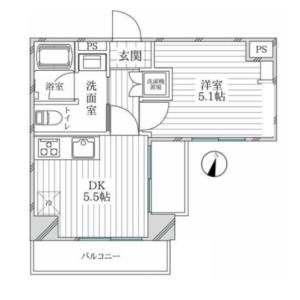 1DK {building type} in Shimura - Itabashi-ku Floorplan
