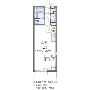 1R Apartment in Minamikase - Kawasaki-shi Saiwai-ku Floorplan