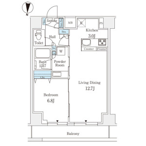 1LDK Mansion in Toyotamakita - Nerima-ku Floorplan