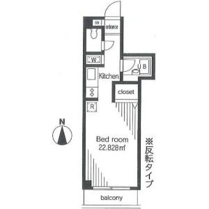 1R Mansion in Kamiyoga - Setagaya-ku Floorplan