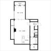 1LDK Apartment to Rent in Suita-shi Floorplan