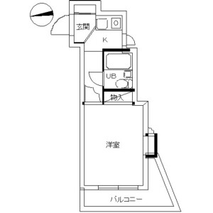 1R Mansion in Akabanenishi - Kita-ku Floorplan