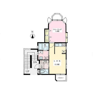 1LDK Mansion in Tsurumaki - Setagaya-ku Floorplan