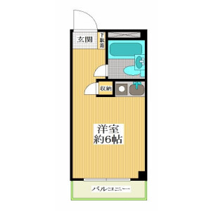 1R Mansion in Noge - Setagaya-ku Floorplan