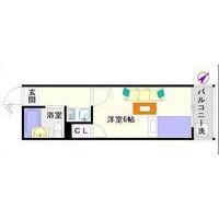 1K Mansion in Shikitsunishi - Osaka-shi Naniwa-ku Floorplan