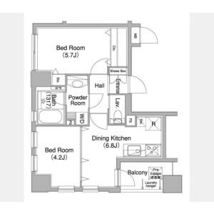 2DK Mansion in Mita - Minato-ku Floorplan