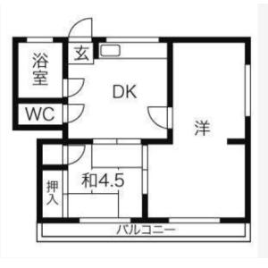 2DK Mansion in Daita - Setagaya-ku Floorplan