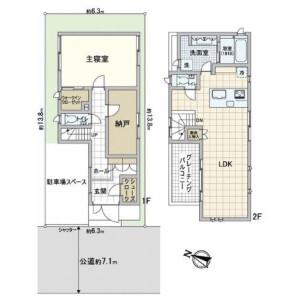 1LDK {building type} in Senzoku - Meguro-ku Floorplan