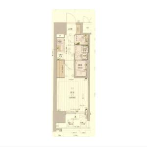 1K Mansion in Kujominami - Osaka-shi Nishi-ku Floorplan