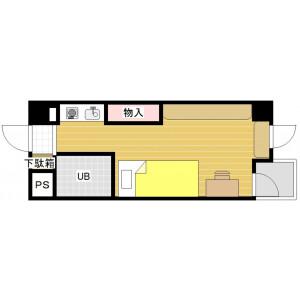 1R Mansion in Higashihakushimacho - Hiroshima-shi Naka-ku Floorplan