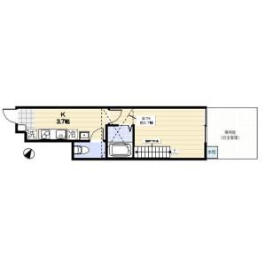 1K Apartment in Sakai - Musashino-shi Floorplan