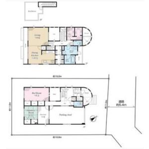 2LDK {building type} in Denenchofu - Ota-ku Floorplan
