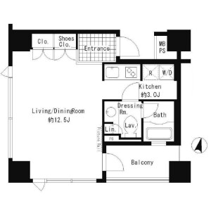 1R Apartment in Udagawacho - Shibuya-ku Floorplan