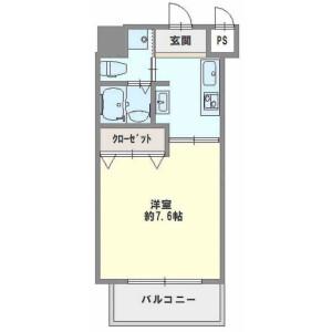 1K {building type} in Honden - Osaka-shi Nishi-ku Floorplan