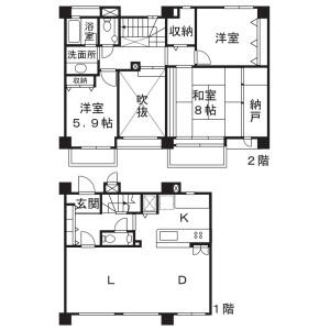 3SLDK Mansion in Hisamoto - Kawasaki-shi Takatsu-ku Floorplan