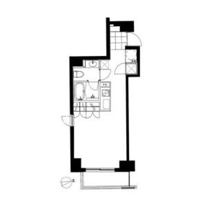 1R 맨션 in Azabujuban - Minato-ku Floorplan