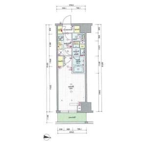 1K Mansion in Asakusa - Taito-ku Floorplan