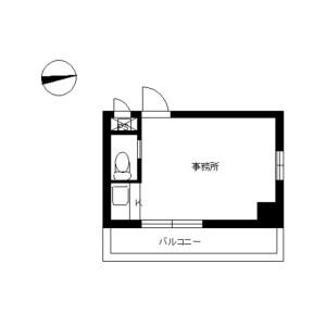 1R Mansion in Honcho - Toda-shi Floorplan