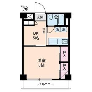 1DK Mansion in Kitami - Setagaya-ku Floorplan