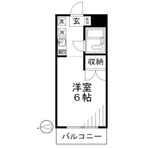 1K Mansion in Sumiyoshi - Koto-ku Floorplan