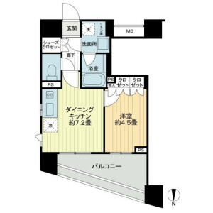 1DK Mansion in Shibuya - Shibuya-ku Floorplan